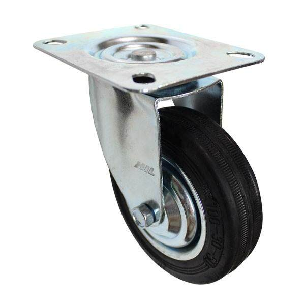 INDUSTRIAL SWIVEL TYPE RUBBER CASTER (MADE IN TAIWAN)