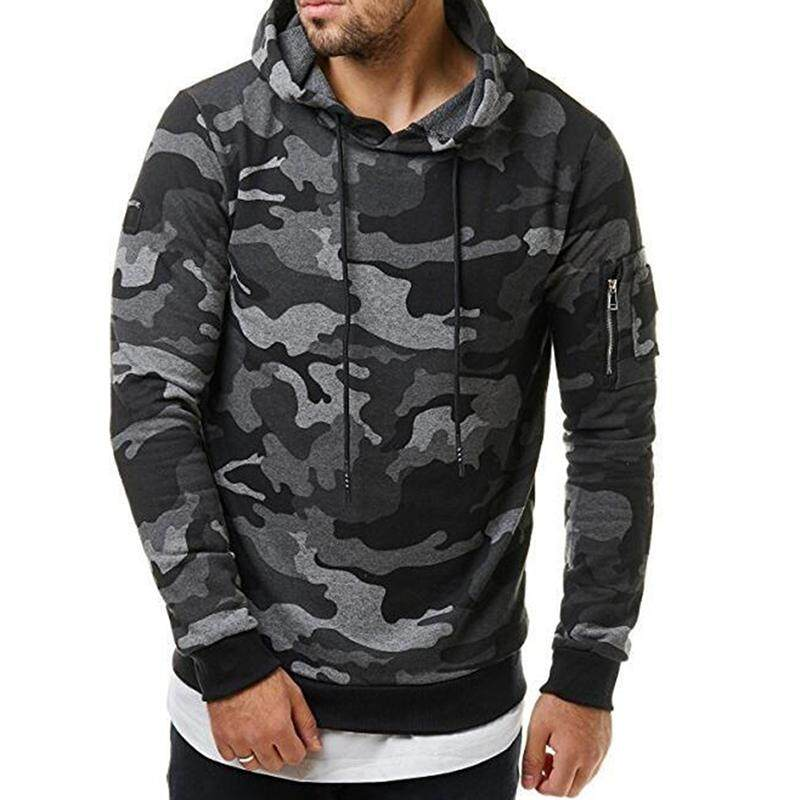 ba7189a7 Charm Men Hoodie Korean Men Fashionable Hoodie Cool Camouflage Sweater  Casual Camo Pullover