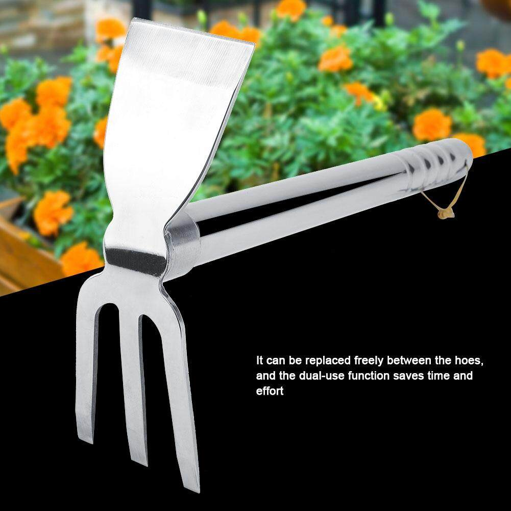 Steel Mini Rake Rubber Handle Short Claw Rake Cultivator Garden Tool Outdoor