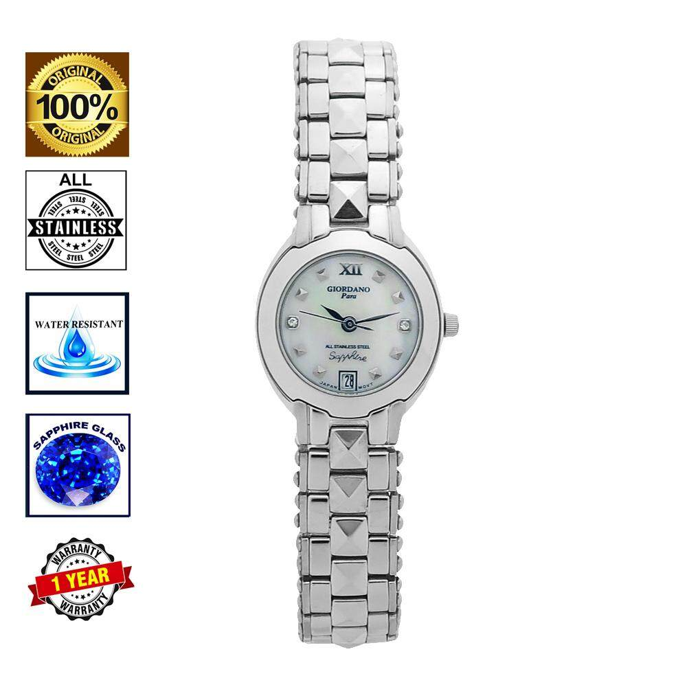 Giordano Sapphire Glass Stainless steel women watch -L3211WH Malaysia