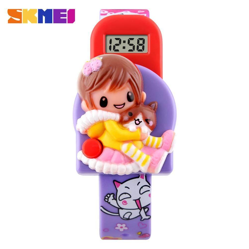 SKMEI 1240 Kid Girls Fashion Toys Watch Children Cartoon Lovely Wristwatch Cute Creative Design Strap Date LCD Display No Waterproof Malaysia