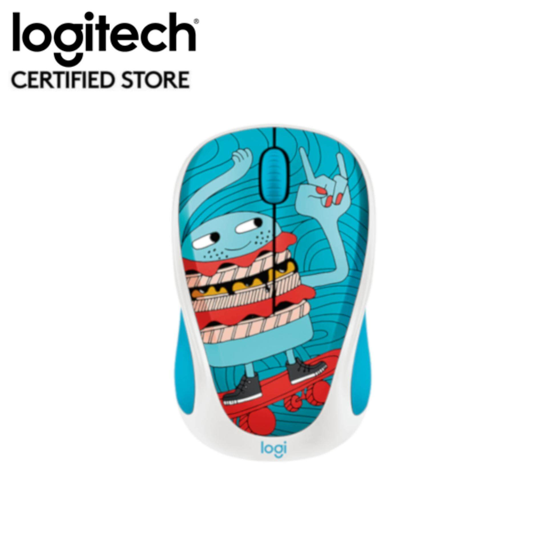 Logitech M238 Doodle Collection Wireless Mouse - Skateburger (910-005060) Malaysia