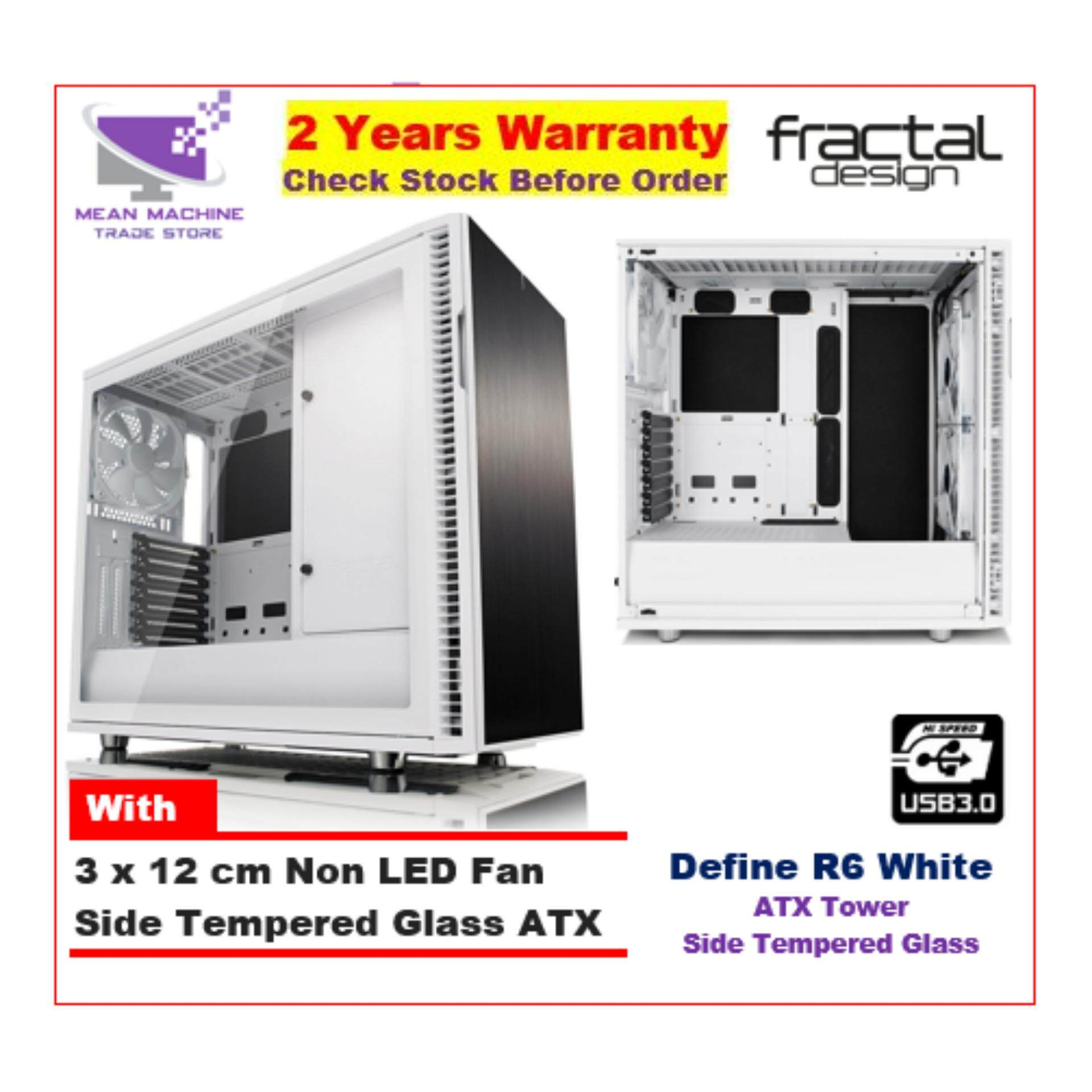 #Fractal Design Define R6 White TG ATX Chassis (With 3 X 12cm Fan) # Malaysia