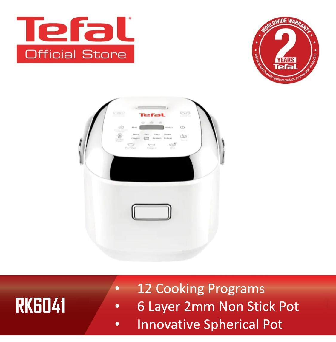 Tefal Fuzzy Logic 6 Layers IH Mini Spherical Pot 12 Cooking Programs Rice Cooker 0.7L RK6041