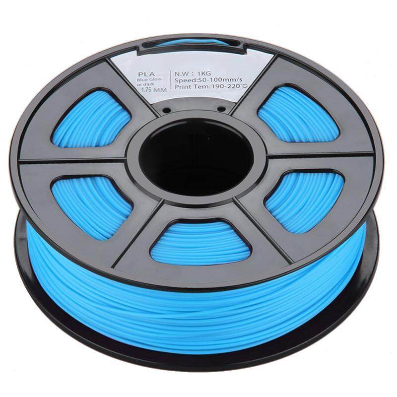Glow in the Dark Spool of 3D Printer Filament 1Kg/2.2lbs With Tolerances: +/-0.02mm NO Air Bubbles for RepRap MakerBot etc (PLA 1.75MM, Purple/Blue Noctilucent)