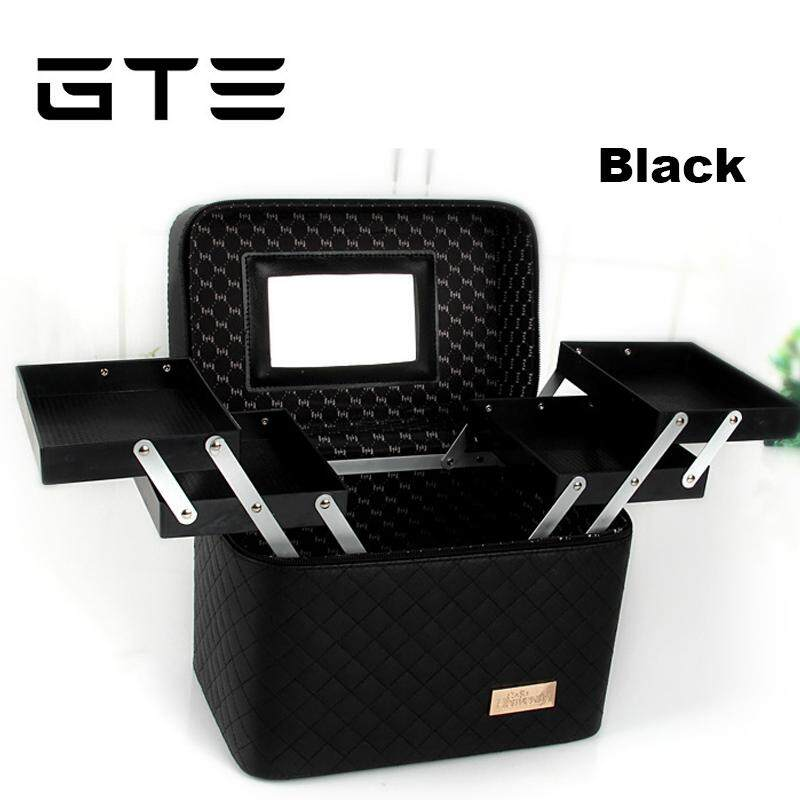 5dce4bd0f6d2 GTE Portable Double-layer Tray Cosmetic Case Simple Storage Box Cosmetic  Bag Makeup Box Beauty Box - Fulfilled by GTE SHOP