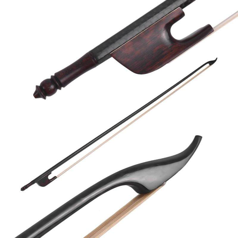 Baroque Style 4/4 Violin Fiddle Bow Carbon Fiber Round Stick Snakewood Frog White Horsehair Well Balanced Malaysia