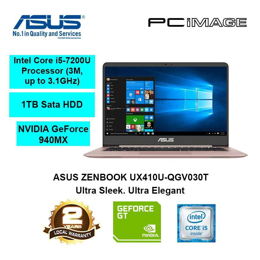 ASUS Zenbook UX410U-QGV030T (Intel i5-7200U, 4GB, 1TB, 940Mx, W10) Notebook-Rose Gold Malaysia
