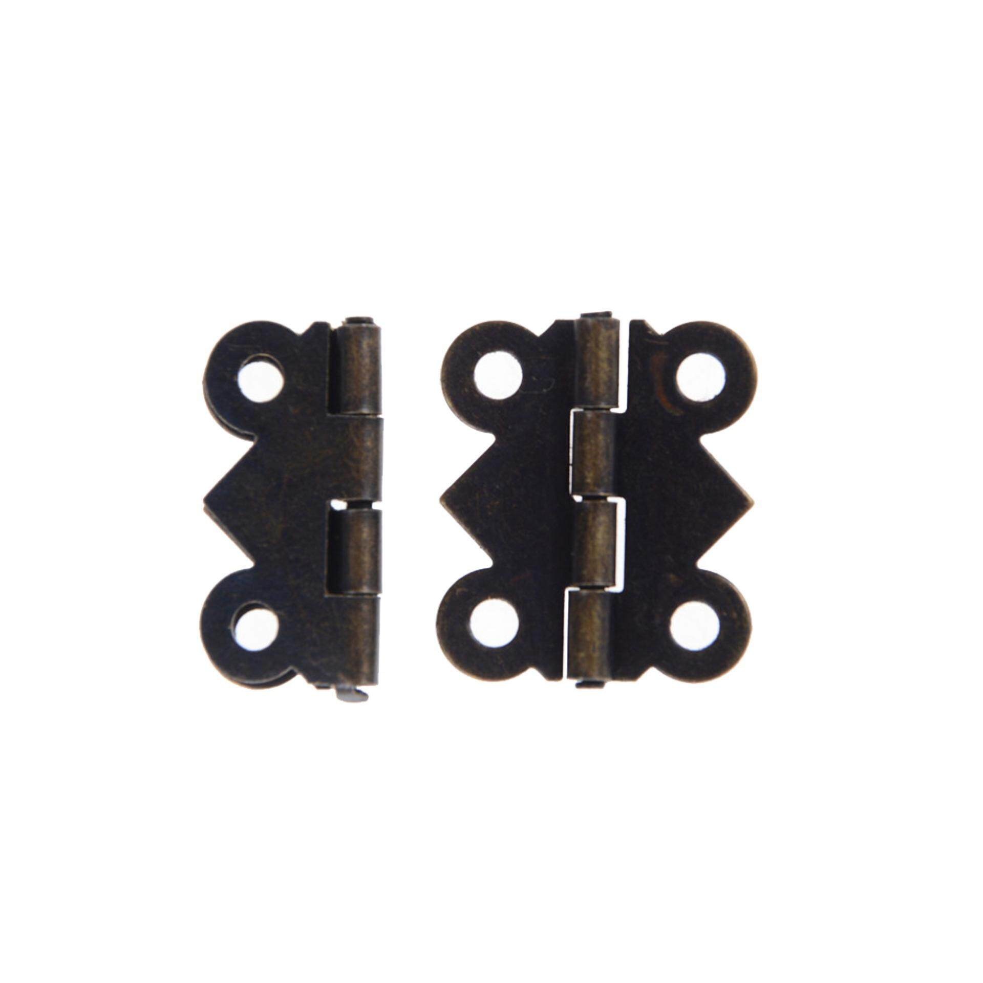Pinellia flowers Mini Door Butt Hinges Antique Bronze 4 Holes Iron Butterfly Drawer DIY Accessories Butt Hinges Cabinet