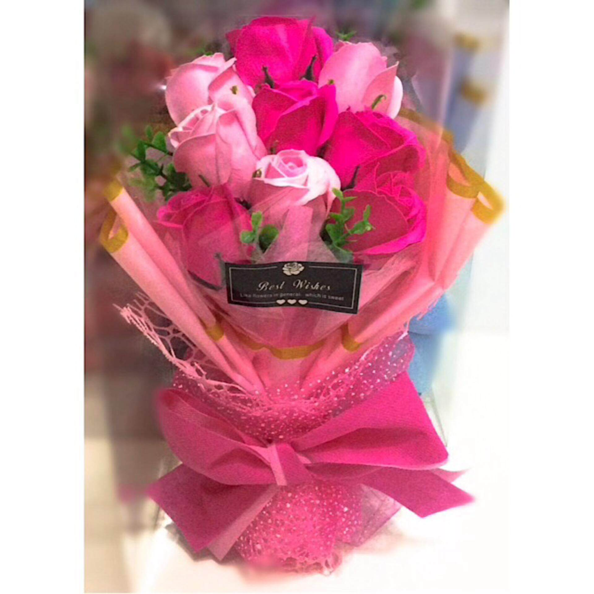Flower bouquet buy flower bouquet at best price in malaysia www flower bouquet fb11052 pink izmirmasajfo Choice Image