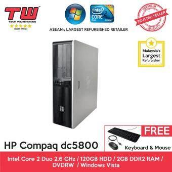 HP Compaq dc5800 C2D 2.6 / 2GB RAM / 120GB HDD / Windows Vista Desktop PC / 3 Month Warranty (SPECIAL OFFER) (Factory Refurbished)