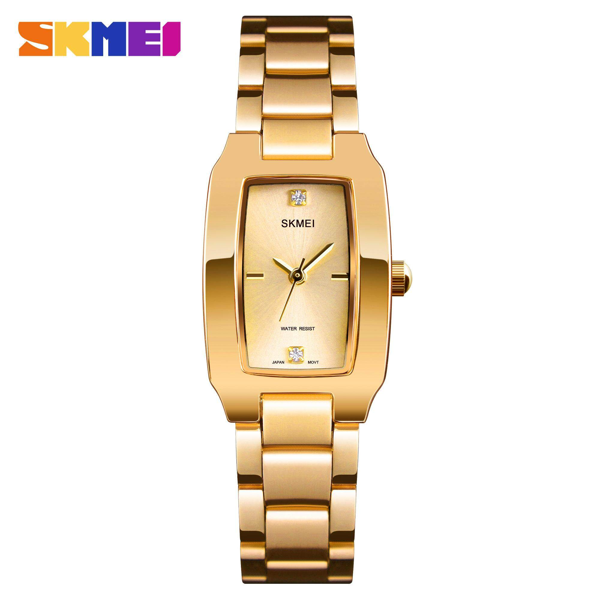 [CNY 2020] SKMEI New Women Fashion Watches Quartz Waterproof Watch Stainless Steel Simple Elegant Wristwatches Ladies Clock 1400 Malaysia