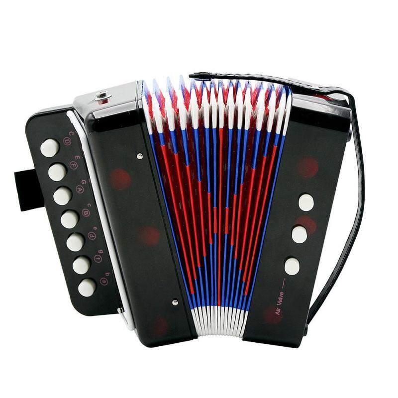 Qimiao 7-Key 2 Bass Accordion Mini Small Accordion Educational Musical Instrument Rhythm Band for Kids Malaysia