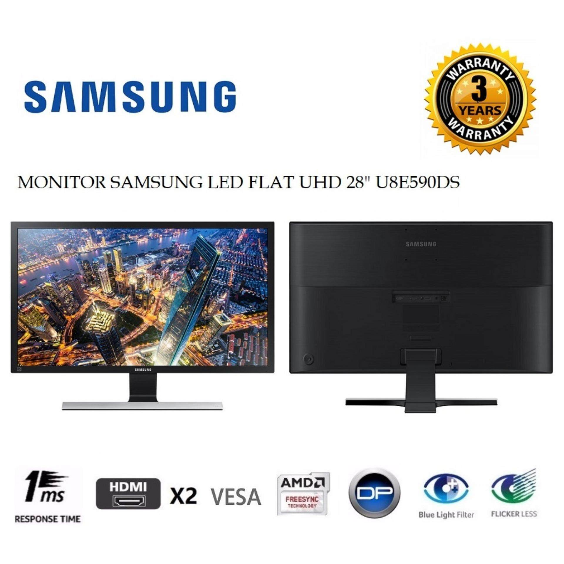 GENUINE SAMSUNG LED FLAT UHD 28 U28E590DS LCD MONITOR (1MS/HDMI*2/DP/VESA) BLACK Malaysia