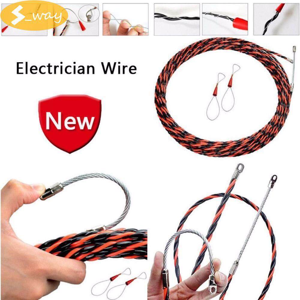 Sway Electrician Threading Device 10M 32.8FT Cable Wire Puller Lead Device Construction Electrician Hand Tools