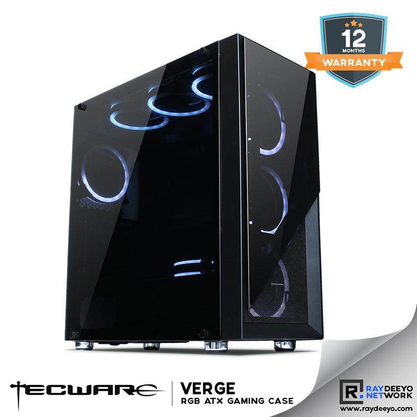 Tecware VERGE TG RGB ATX GAMING CASE (4 RGB Fans with controller included) [ATX, Matx, Mini-ITX] Malaysia
