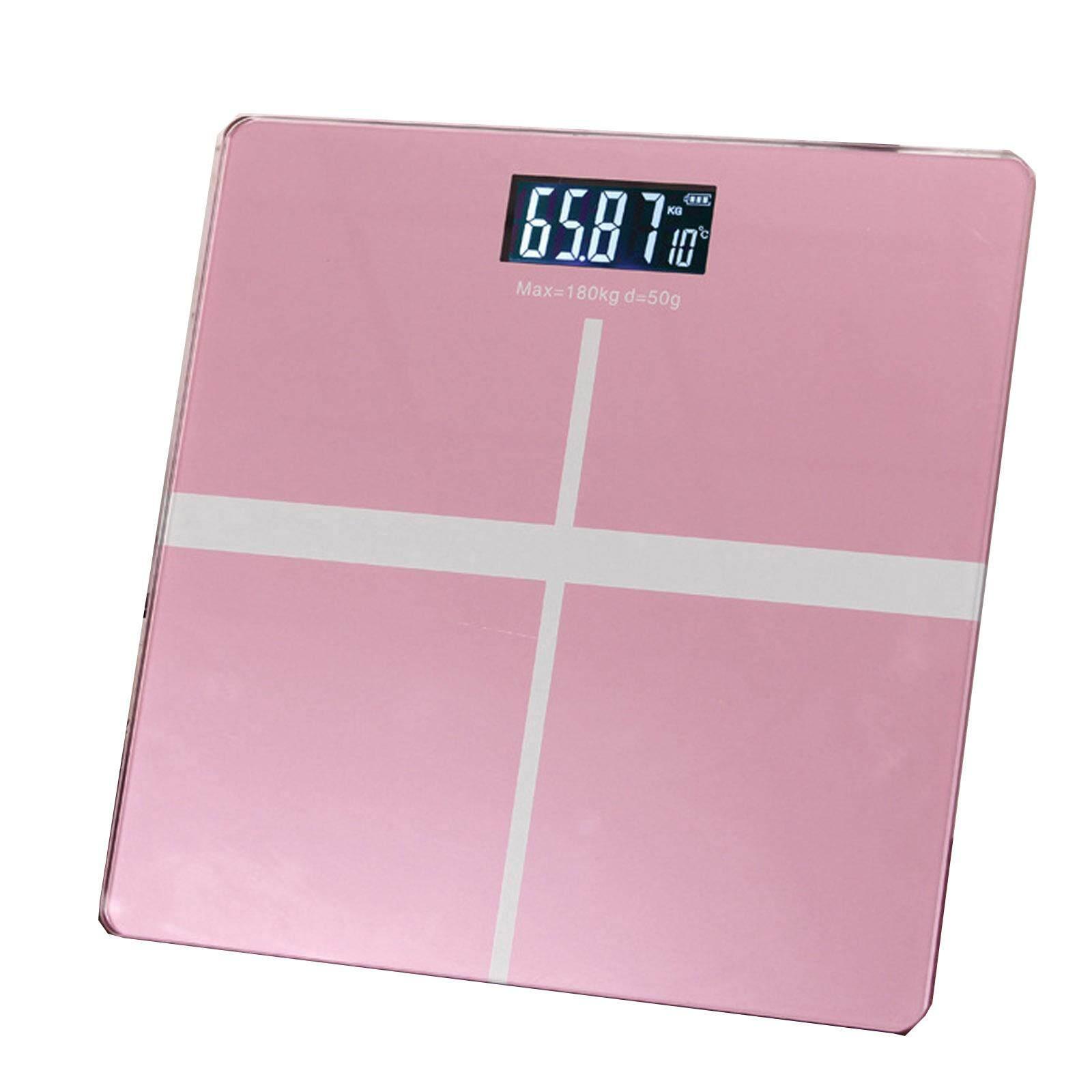 Nava Precision 28cm Digital Weighing Machine Body Measuring Scale Rose Pink