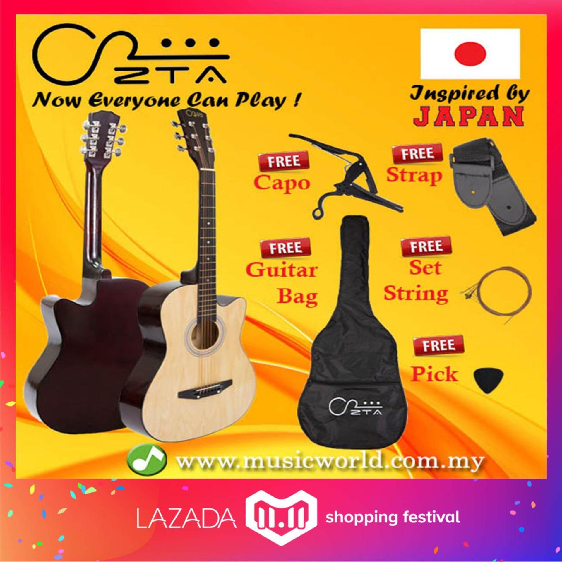 Guitars Musical Instruments With Best Price In Malaysia Kramer Focus Guitar Wiring Diagram Zta 38 Inch Acoustic Natural Cutaway Starter Pack Folk Bundle