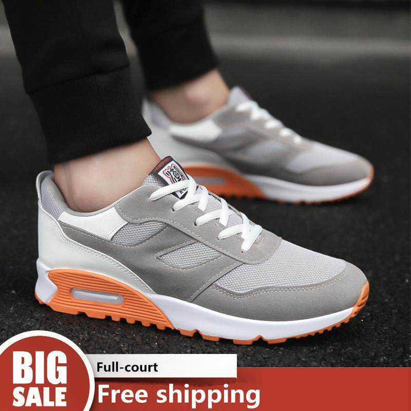 WJKFGI Korean fashion men s shoes thick bottom air cushion running shoes  mesh breathable sports shoes 0f14af75ab