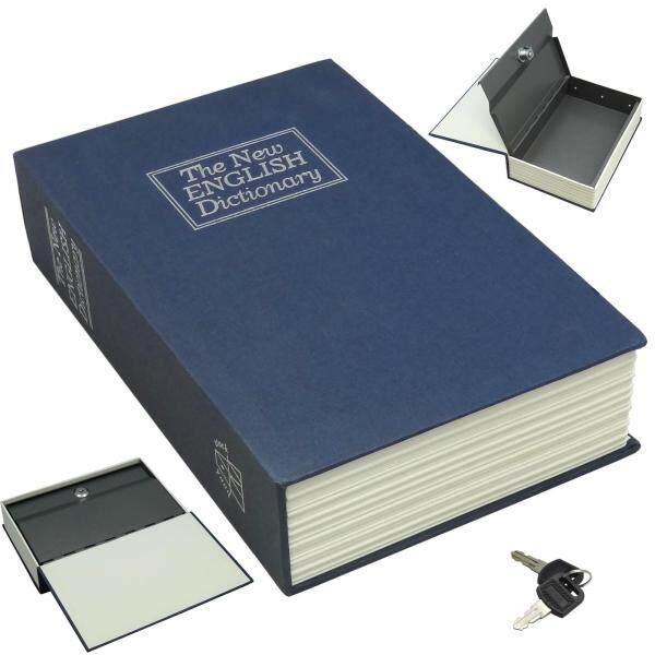 Dictionary Diversion Book Safe Secret Stash Money Cash Security Box with Key Lock - M Size [24x15.4x5.5cm]