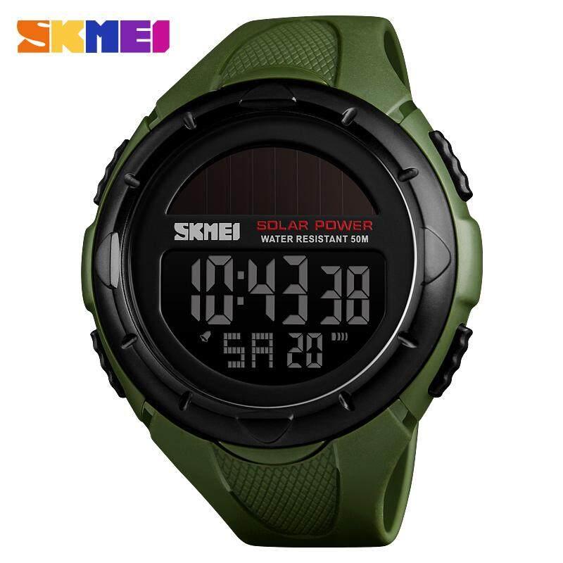 SKMEI 1405 Solar Power Outdoor Sports Watches Men Shock Digital Watch Chrono 50M Water Resistant Wristwatches 1405 Malaysia