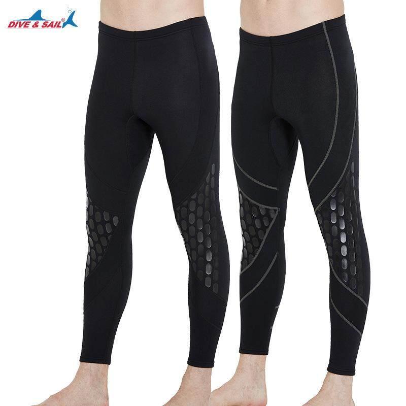 e17698763be DIVE SAIL 1.5MM Neoprene Long Swimming Pants Diving Wetsuit Men Bodysuits  Surf Snorkeling Wetsuits Suit