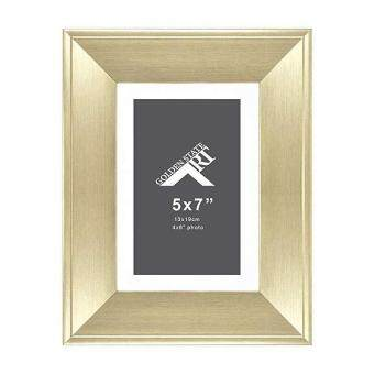 Baru Golden State Art 5x7 Frame For 4x6 Photo With White Mat Table