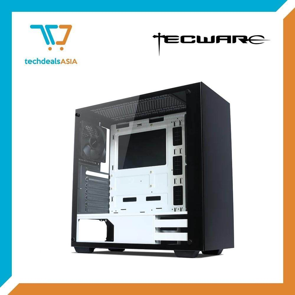 Tecware NEXUS TG (BLACK/WHITE) Tempered Glass ATX Gaming Case [ATX, Matx, Mini-ITX] Malaysia