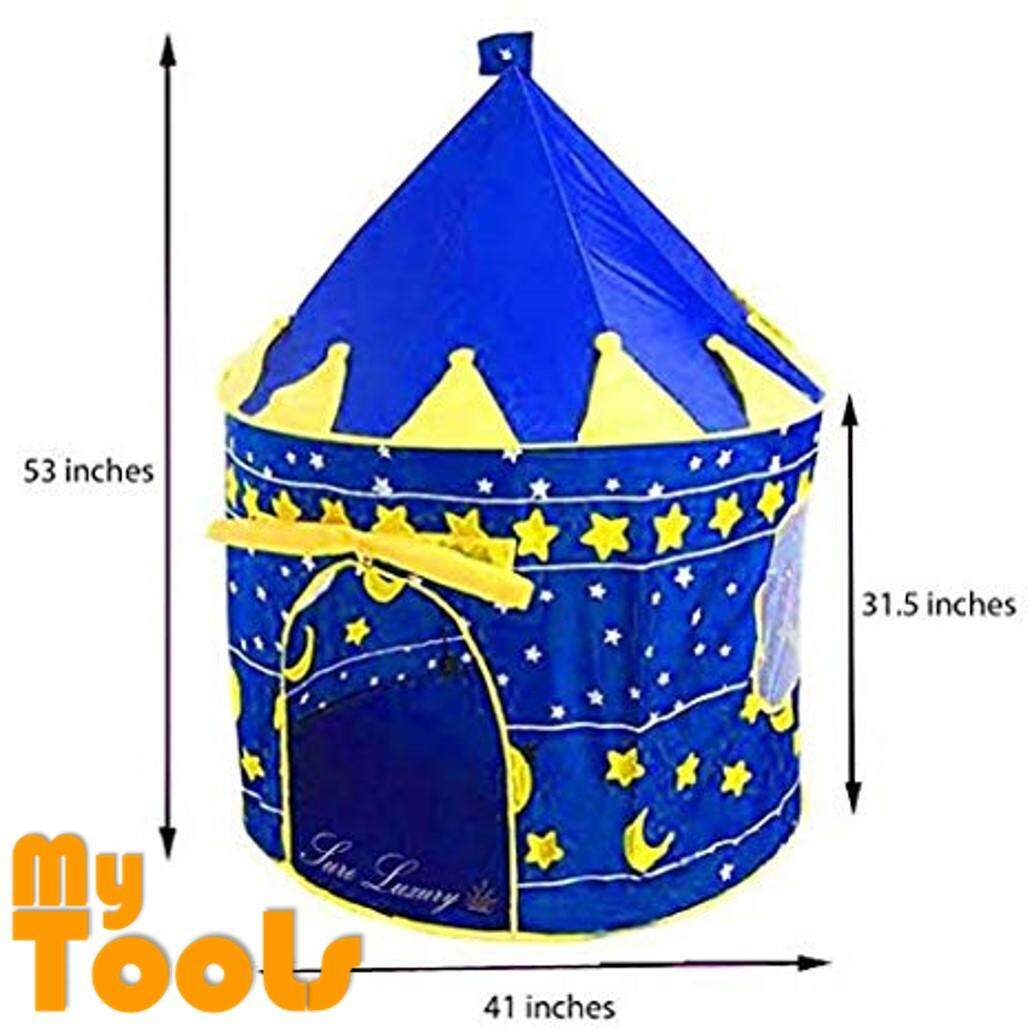Mytools Portable Folding Kids Play Tent Castle Chubby House (blue) By Mytools Marketing.