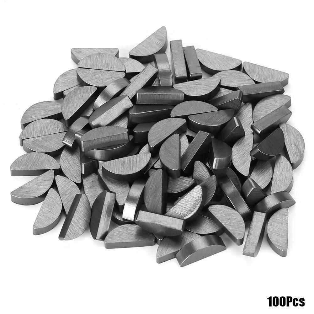 【Imported】100Pcs 45# Steel Semicircle Bond Woodruff Key Kit Accessories 3*5*13mm