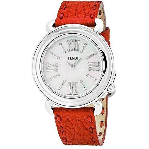 a6a25c5fe681 Fendi Selleria Womens Stainless Steel Fashion Swiss Watch - Mother of Pearl  Face Vintage Dress Watch