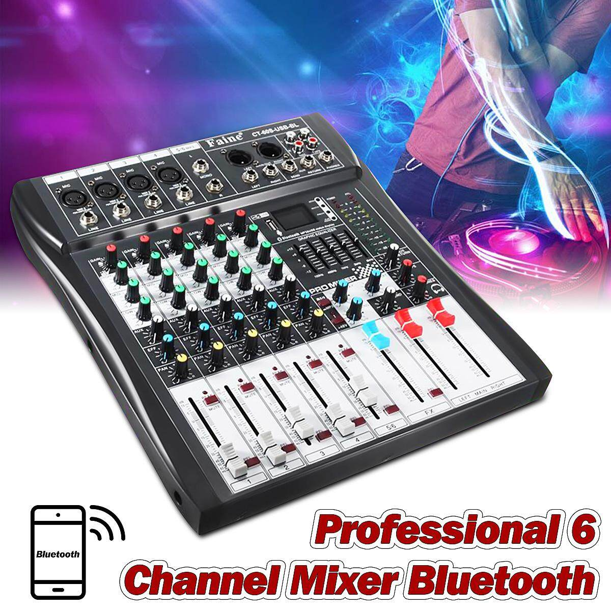Popular Audio Interfaces For The Best Prices In Malaysia 6 Channel Mixer Leory Profissional Dj Controller Metal Mezclador With Usb Bluetooth Led Screen