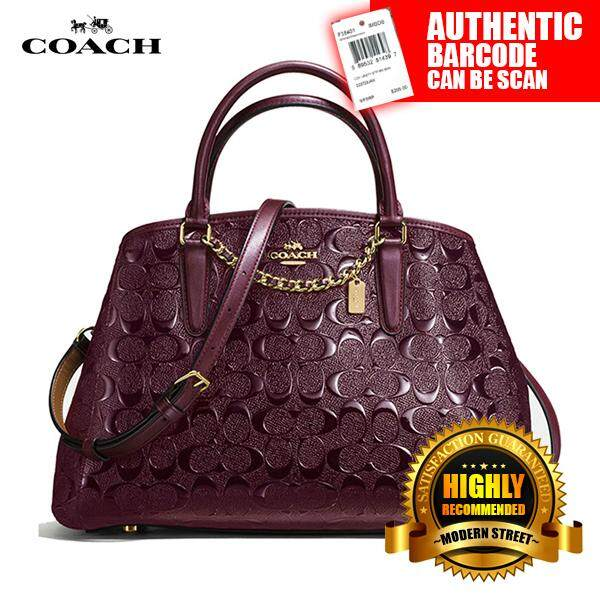 31b72fa378 Coach F55451  NWT  Small Margot Carryall In Signature Debossed Patent  Leather- IML7C (