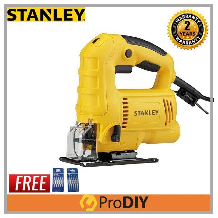 STANLEY SJ60 600W Power Jigsaw Variable Speed Foc Twin Pack Blade + 1pc Extra Bla