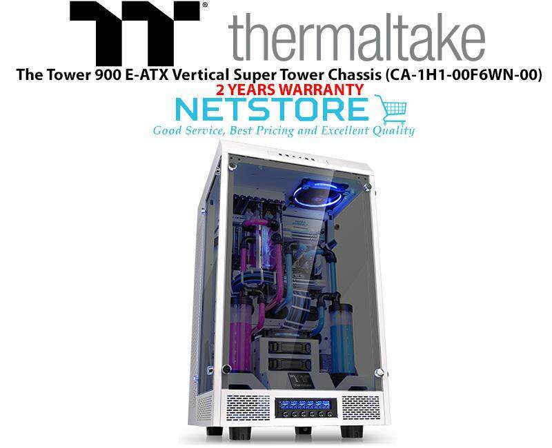Thermaltake The Tower 900 E-ATX Vertical Super Tower Chassis - White CA-1H1-00F6WN-00 Malaysia