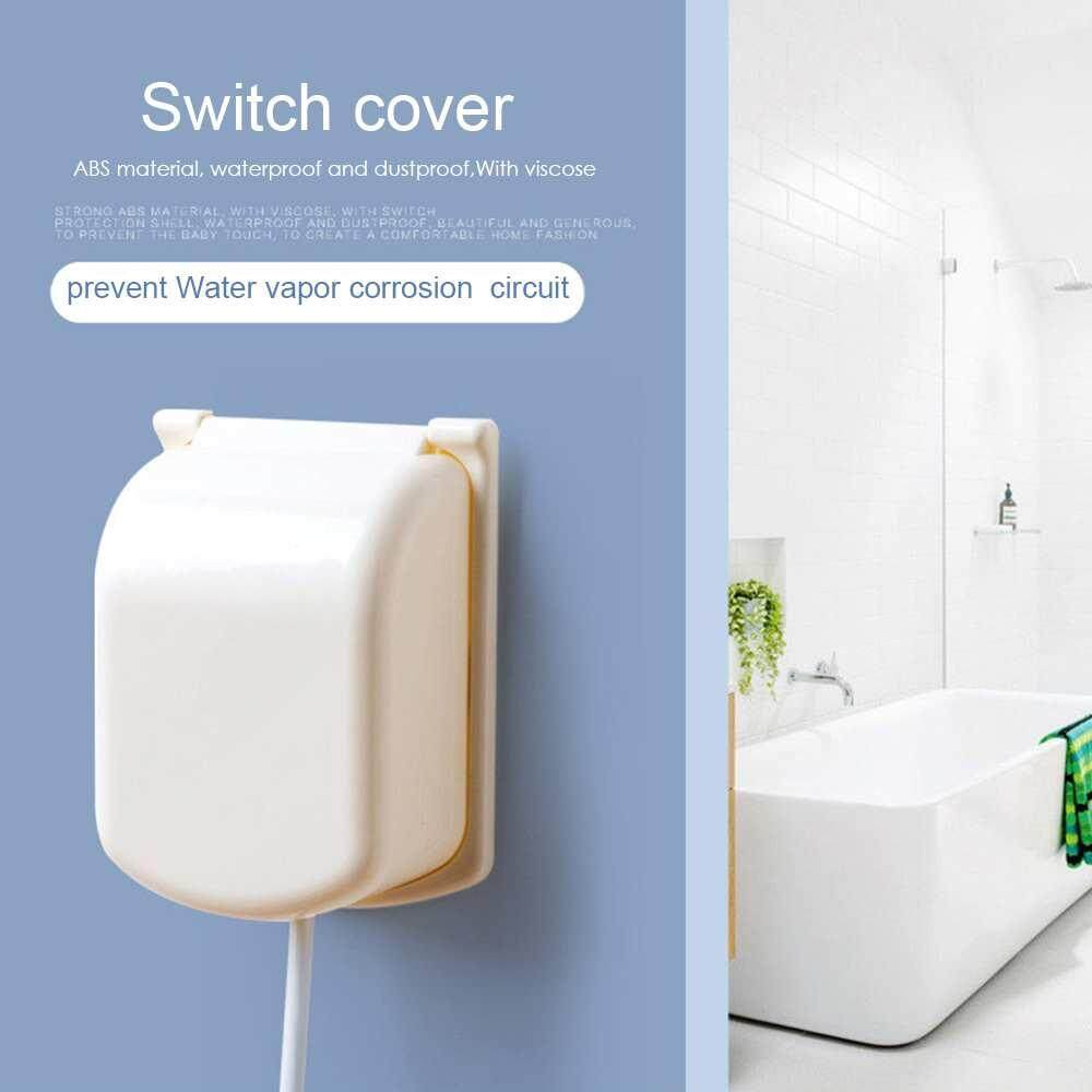 Lissng Plastic Anti-Electrical Socket Cover Waterproof Dust-Proof Switch Cover Child Safety Switch Sticker Home Decor By Lissng.