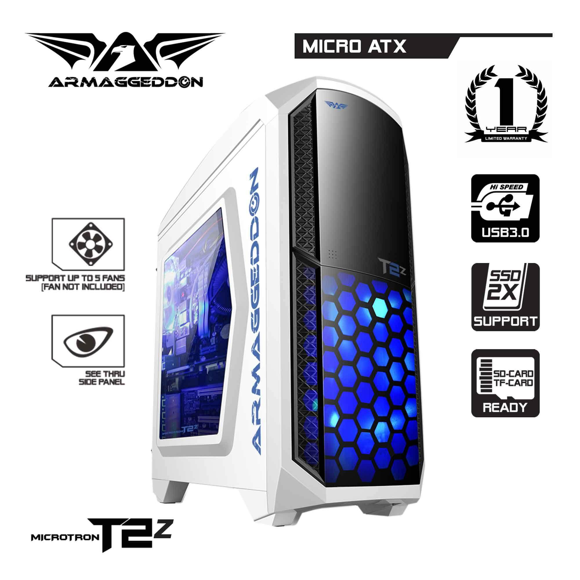 (PROMOTION) Armaggeddon Microtron T2z Gaming PC Chassis (White) Malaysia