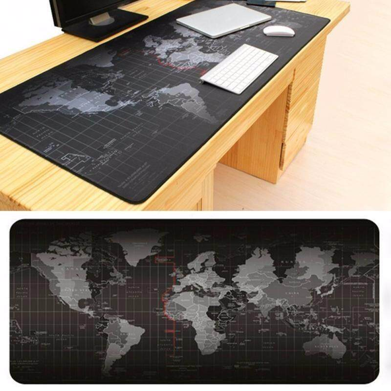 CaiCai Big Size (70cm*30cm*0.2cm) Pro Gaming World Map Mouse Pad Mousepad for Dota LOL CS GO Malaysia