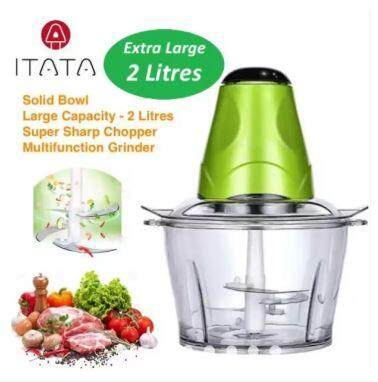 [1 Year Warranty] Itata 2l Electric Meat Grinder Multi-Function Small Side Dish Blender Mixing Food Meat Grinders + 2 Speed By Riverside Supply Centre.