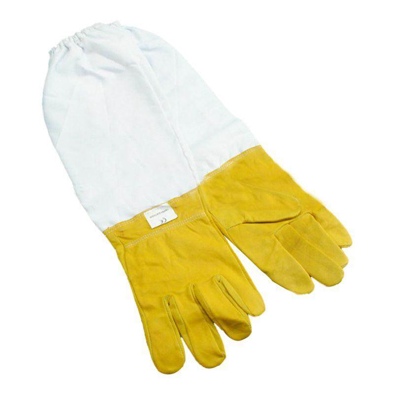 Anti Bee Gloves Beekeeping Tools S Code Yellow White XXL SIZE