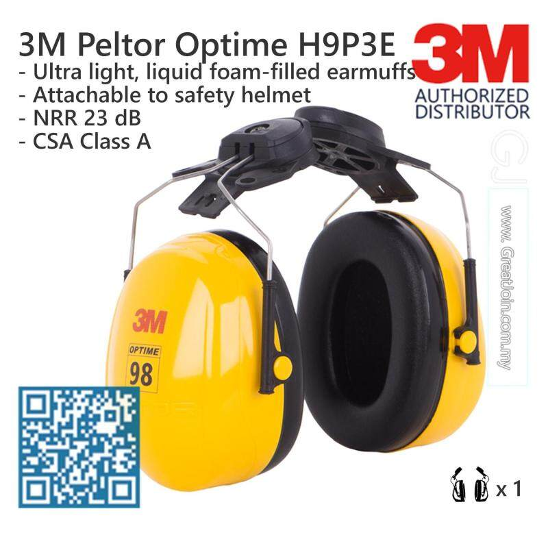 3M H9P3E Peltor Optime 98 Series Cap-Mount Safety Ear Muff/ Earmuff/ Hearing Protection Noise Reduction Rating (NRR) 23 dB/CSA Class A [1 Unit]