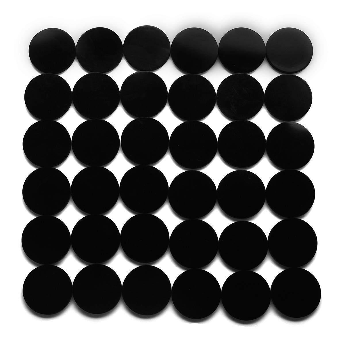 New 100 Pcs 25mm Round Bases Black Antiskid Silico Model Bases For Wargames