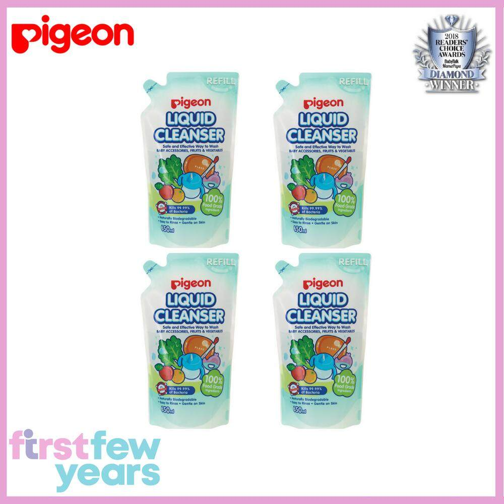 Pigeon Liquid Cleanser Value Pack (refill Pack 650ml X 4) By First Few Years.