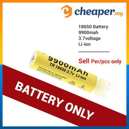 Rechargeable Battery 3.7v 18650 Li-Ion Lithium Batteries (battery Only) By Cheaper.my.