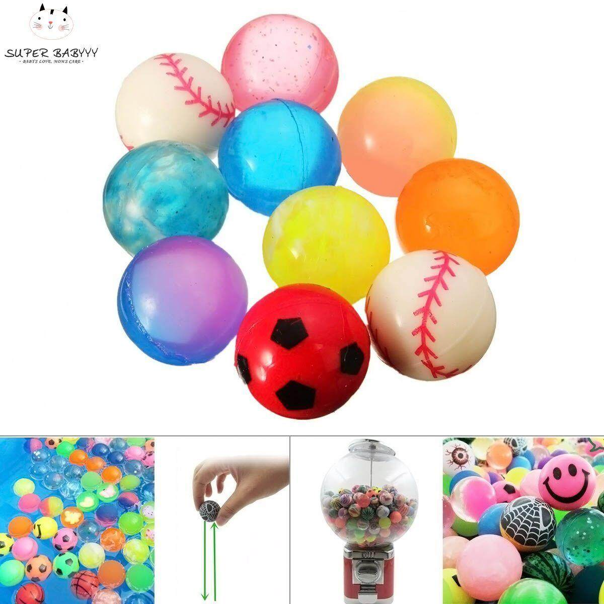 Sby 10pcs Colorful 27mm Bouncy Jet Balls Kids Toys For Pinata Loot Party Bag Stocking Fillers By Super Babyyy.