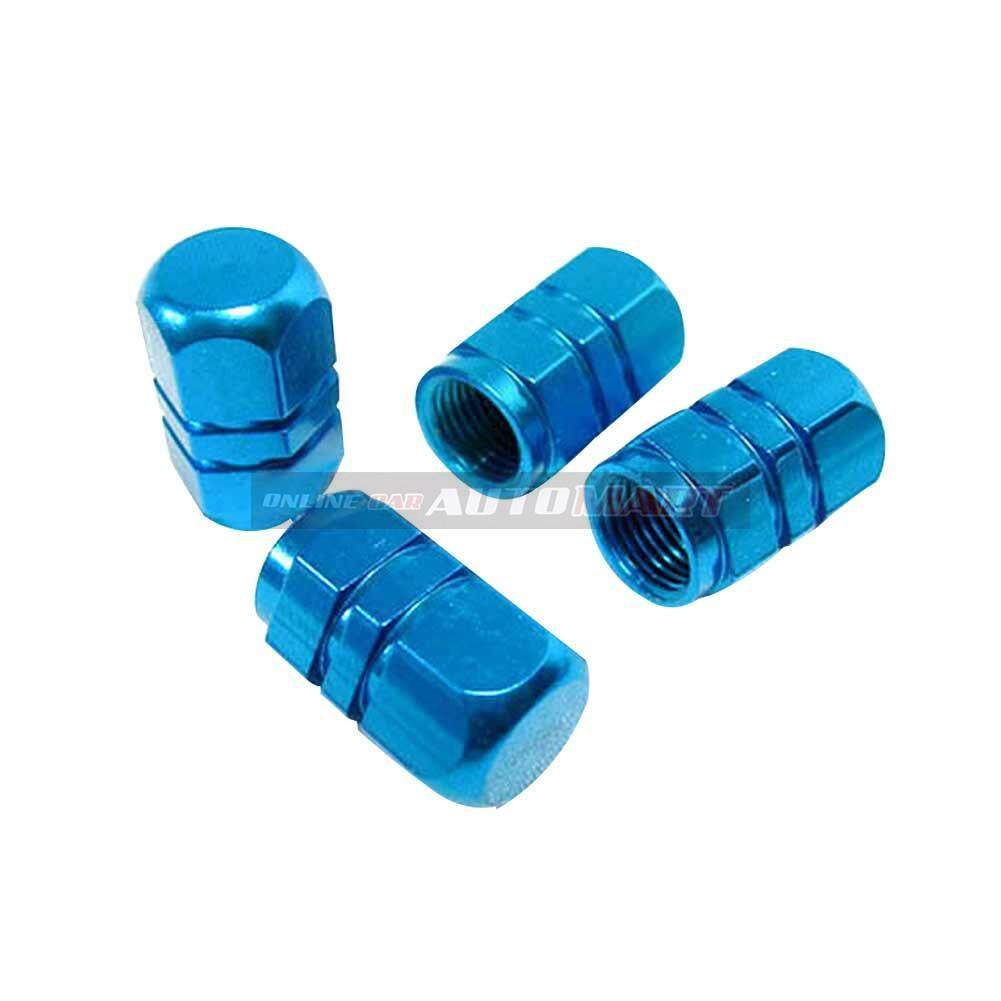 4pcs Aluminium Alloy Tyre Valve Tyre Cap Valve Stem Air Caps Airtight Cove Blue By Online Car Automart.