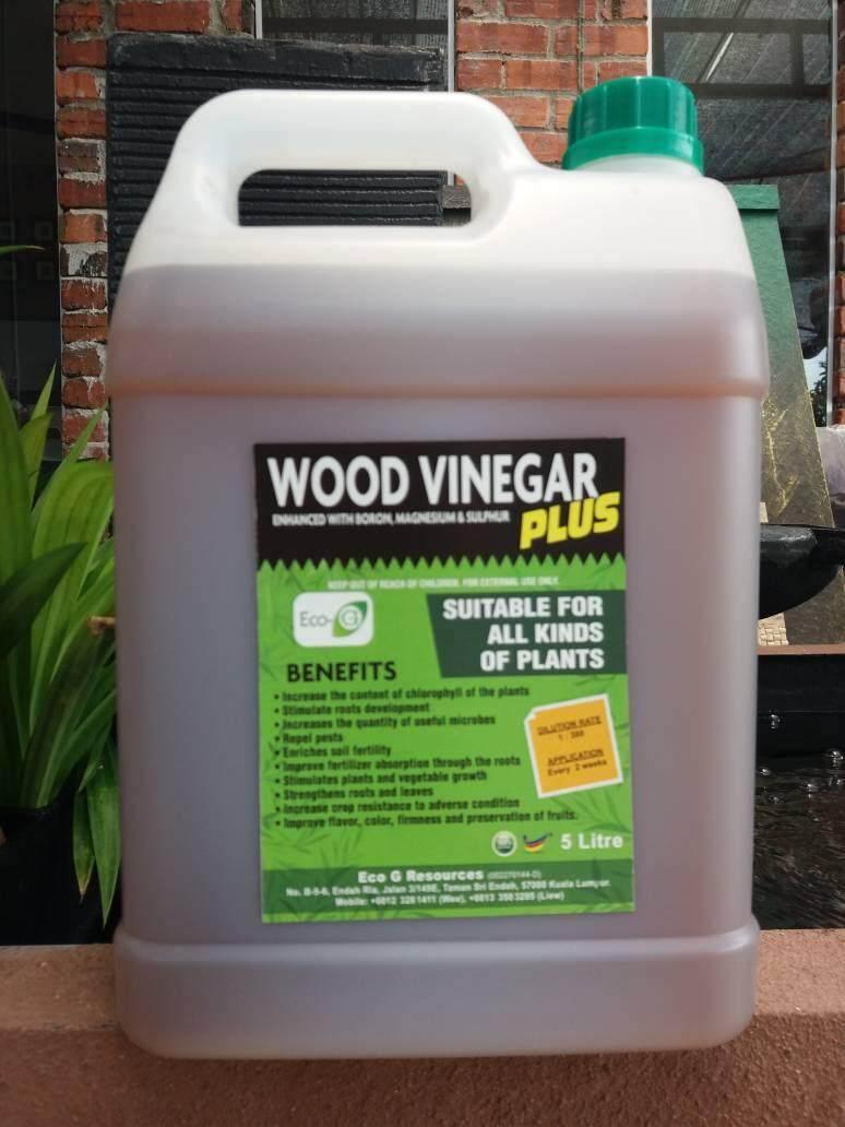Eco G Cuka Kayu Agri Wood Vinegar PLUS with Enhance Boron, Magnesium & Sulfur - 5L