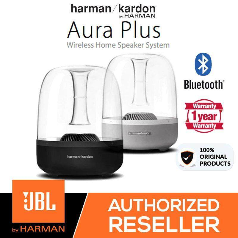 Original Harman Kardon JBL Aura Plus Wireless Bluetooth Home Speaker System (Black / White) Malaysia