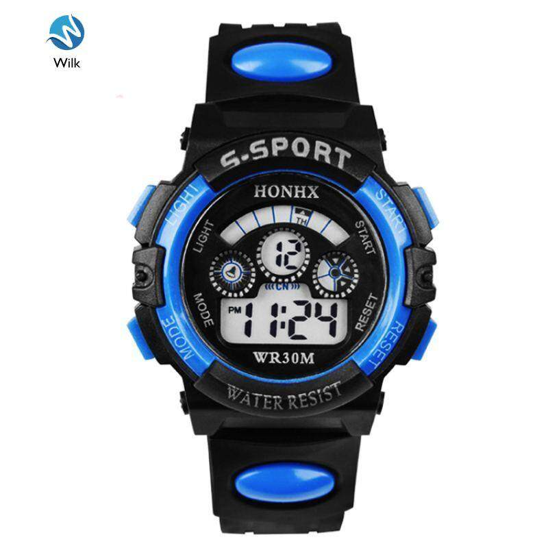 Waterproof Children Boys Digital LED Sports Watch Kids Alarm Date Watch Malaysia