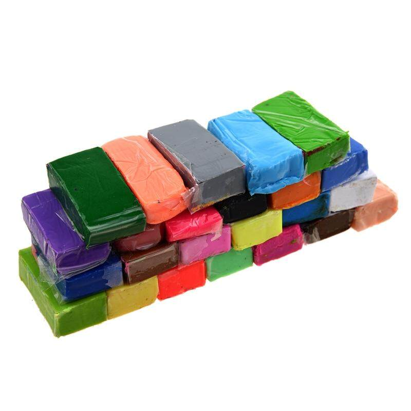 Mixed Colour 24 Soft Sculpey Oven Bake Polymer Clay Modelling Moulding Block By Lapurer.
